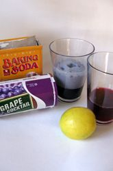 Cool science experiments with grape juice (concentrate), lemons and baking soda...the grape juice will change colors...another cool small group activity