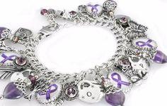 Lupus Bracelet, Fibromyalgia Jewelry, Epilepsy Bracelet, Alzheimers Bracelet, Purple Awareness Jewelry