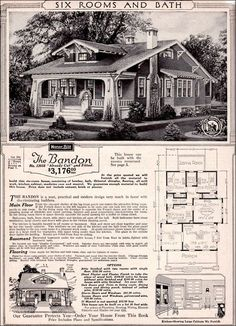 Bandon was a Sears Craftsman Bungalow mail-order house. Identical floor plan, but rooms were rearranged.The Bandon was a Sears Craftsman Bungalow mail-order house. Identical floor plan, but rooms were rearranged. Craftsman Style Bungalow, Bungalow Homes, Sears Craftsman, Craftsman Bungalows, Craftsman Homes, Craftsman Kitchen, Bungalow Exterior, American Craftsman, Sears Catalog Homes