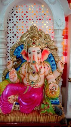 Ganapati Bappa at home Largest Collection of Lord Ganesha on the Planet Jai Ganesh, Ganesh Lord, Shree Ganesh, Ganesha Art, Ganesh Idol, Ganesh Chaturthi Decoration, Happy Ganesh Chaturthi Images, Shri Ganesh Images, Ganesha Pictures