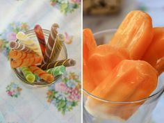 Carnival Themed Party Orange Popsicles