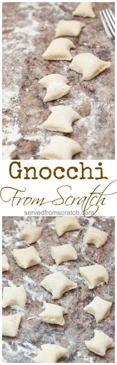4 Ingredients is all your need to make your own Gnocchi From Scratch!