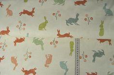 Stoff Ornamente - Baumwollstoff Hares - ein Designerstück von stoffe-tippel bei DaWanda