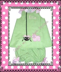 Charlottes Web Swing Top and Bloomers by GigglesandGrinsAgain, $45.00