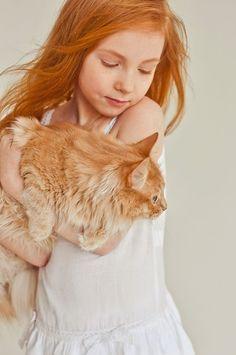девушка и рыжий кот - Google Търсене