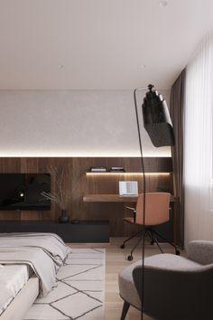 Dazed on Behance Contemporary Interior Design, Modern Interior, Home Interior Design, Home Office Space, Home Office Design, Hotel Design Architecture, Living Room Decor, Living Spaces, Hotel Room Design
