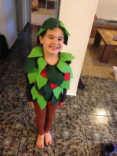 Apple tree costume תחפושת עץ תפוחים #diy #apple #tree #costume