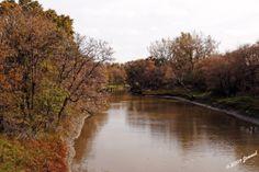 landscape autumn fall seineriver winnipeg canada 102009