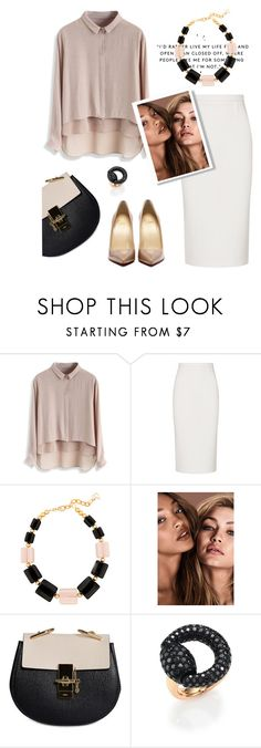 """Open."" by catpaw29 ❤ liked on Polyvore featuring Roland Mouret, DIANA BROUSSARD, Chloé and Gucci"