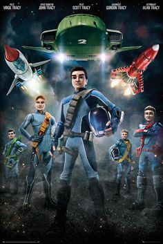 Thunderbirds Are Go Group - Official Poster. Official Merchandise. Size: 61cm x 91.5cm. FREE SHIPPING