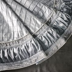 silver and pearl tree skirt yes i know this is a tree skirt but - Silver Christmas Tree Skirt