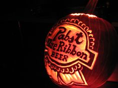 1000 images about pbr diy on pinterest pabst blue Pumpkin carving beer