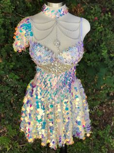 Mermaid Bra, Mermaid Skirt, Mermaid Tails, Rave Bra, Showgirl Costume, 50s Costume, Sequin Maxi, Hippie Costume, Tutu
