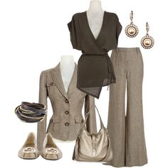 W for Work by theclosethound on Polyvore featuring Olive, Gucci, Presh, Givenchy, linen and suit