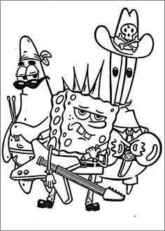 Desenhos para pintar Bob Esponja 34