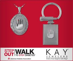 Bonus for Step Out: Walk to Stop Diabetes participants, courtesy of Kay Jewelers -- The first 1,000 walkers to raise $1,000 online will have the choice of a limited edition Stop Diabetes sterling silver locket and chain or a titanium key ring. Each item can be personally engraved with a special message. These items are not available for purchase, so register today and fundraise to Stop #Diabetes!