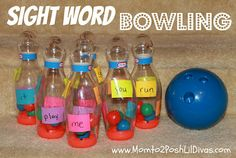 Sight Word Bowling - a great way to get kids moving, playing and learning!