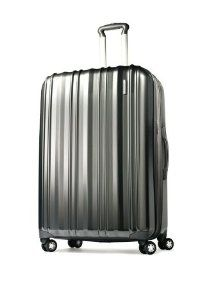 """Samsonite 28"""" Hardside Spinner Travel Bag Luggage - Silver by Samsonite. $169.99. Case expands for added capacity. Extra modesty pocket inside for loose items.. Push-button locking handles. All Terrain Spinner Wheel system - 4 wheels....zero effort. Light weight 100% Polycarbonate. Samsonite 28"""" Hardside Luggage is 100% polycarbonate which is light-weight and impact resistant for lasting durability.  Samsonite 28"""" Hardside Luggage is 100% polycarbonate which is light-weig..."""