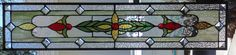 Stained Glass Window Hanging 33 1/4 X 7 1/4