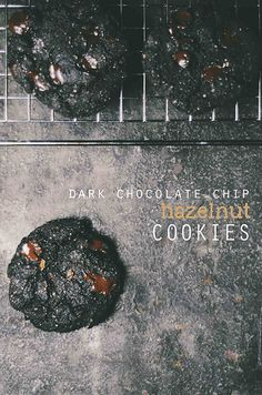 Hazelnut Dark Chocolate Chip Cookies | A Brown Table