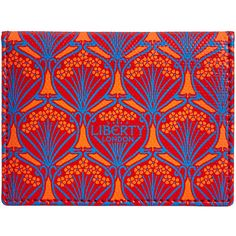 Liberty of London Iphis Travel Card Holder - Red ($85) ❤ liked on Polyvore featuring bags, red, red canvas bag, canvas travel bag, liberty bags, foldover bags and travels bags