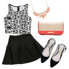 The perfect look #SkaterSkirt #black&white