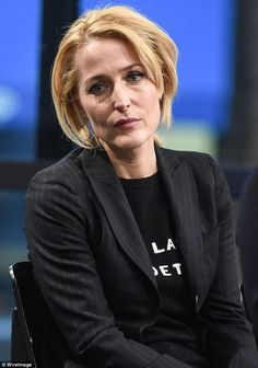 The X Files actress, 48, stepped out to promote her new book touching upon her battle with mental health issues after revealing at her lowest point she was unable to leave the house.