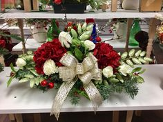 Custom order low table arrangement, design by Andi at Silk Florals