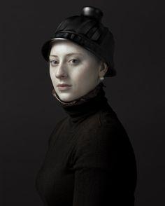 "Photo by Hendirk Kersten's ""Family Album"" at Gallerie Rademakers in Amsterdam. Portraits of his daughter"