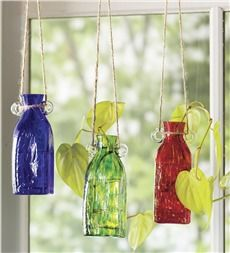For the gardener - Colorful Square Glass Rooting Jar