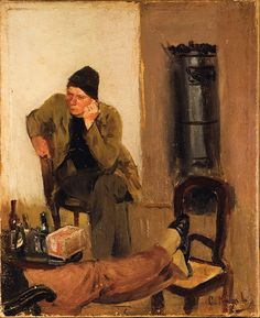 File:Christian Krohg - Charles Lundh in conversation with Christian Krohg - Google Art Project.jpg