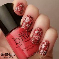 Nail stamping with Pueen encore plates