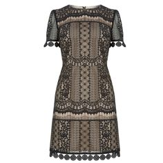 Graphic Lace Shift Dress