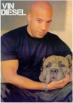 celebrities with cane corsos - Vin Diesel