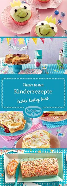 With the delicious recipes for children to cook and bake Dr. Oetker makes it fun for the little ones and fun to prepare hearty and sweet dishes – let yourself be inspired by our recipes. Home Meals, Kids Meals, Baby Food Recipes, Food Network Recipes, Different Vegetables, Food Humor, Food Presentation, Tray Bakes, Cooking Time