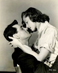 Rock Hudson and Lauren Bacall #kiss #kisses #kissing #couple #love #passion #romance