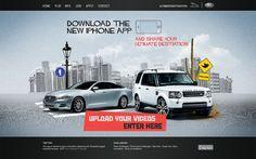 Jaguar Land Rover #web #Design #Concept