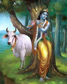 Krishna with a cow Lord Krishna Wallpapers, Radha Krishna Wallpaper, Radha Krishna Images, Lord Krishna Images, Radha Krishna Photo, Krishna Pictures, Krishna Art, Krishna Statue, Hare Krishna