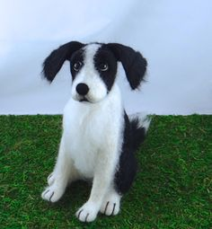 Border Collie - Needle Felted by Trish Veilleux