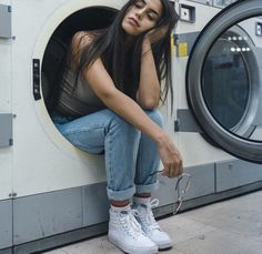 don't even ask me why i'm sitting in a washing machine
