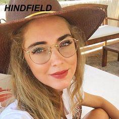 #FASHION #NEW Computer Glasses 2018 Eyewear Frame Anti Blue Light Game Glasses Anti Glare Eyeglasses Frame Women Round Clear Lens Fake…