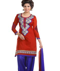 http://www.istyle99.com/Dress-Material/Red-And-Blue-Chanderi-Cotton-Embroidered-Party-Wear-Unstitched-Dress-6673.html Red And Blue Chanderi Cotton Embroidered Party Wear Unstitched Dress @ Rs949.00 Stitch Type: Unstitched Occassion Type: Party Wear Colour: Red,Blue Top Fabric: Chanderi Cotton Bottom Fabric: Semi Santoon Dupatta Fabric: Nazmeen Work Style: Embroidered Style Type: Patiyala Suit Top Size: 2.3 MTR Bottom Size: 2 MTR Dupatta Size: 2.25 MTR
