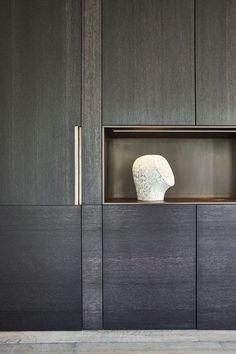 home accents II. Drongen Projecten De Puydt Haarden Interiors around fire. Home Interior Design, Interior Architecture, Interior And Exterior, Joinery Details, Cuisines Design, Cabinet Design, Home Staging, Wall Design, Home Remodeling