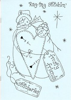 Frosty Friends - a Collection of Christmas Stitcheries from Michelle Ridgway - Rag Tag Stitchin