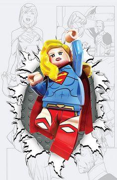 DC Comics LEGO Batman 3 : Beyond Gotham variant cover - Supergirl #36