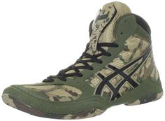 green and gold wrestling shoes