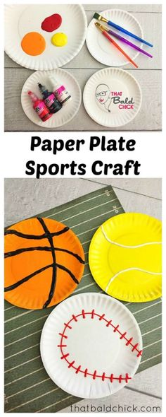 167 best game on! lifeway vbs 2018 theme sport, paper plate crafts for kids Vbs Crafts, Camping Crafts, Preschool Crafts, Arts And Crafts, Preschool Christmas, Preschool Ideas, Christmas Crafts, Sport Themed Crafts, Theme Sport