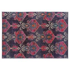 ???? Check out this item at One Kings Lane! Blanca Rug, Charcoal/Pink