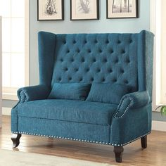 Hokku Designs Wembley Loveseat & Reviews | Wayfair This would be perfect in the foyer!