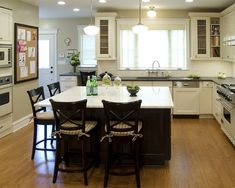 Simple traditional kitchen island